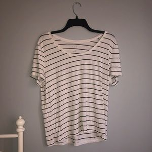 Striped cotton tee - barely worn!